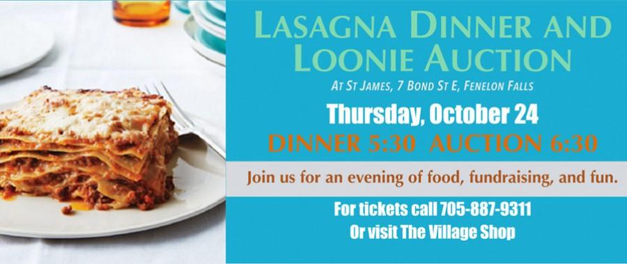 Lasagne & Loonie dinner